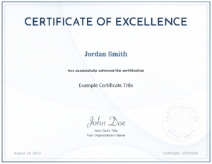 Accredible Digital Certificate